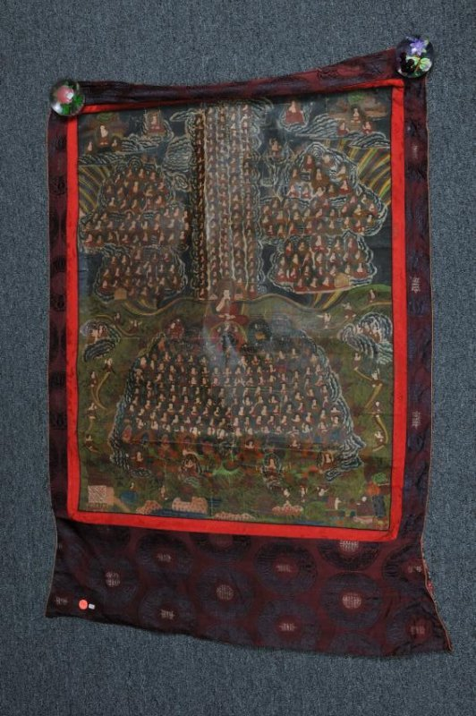 Thangkha. Tibet. 20th century. Mineral pigments on