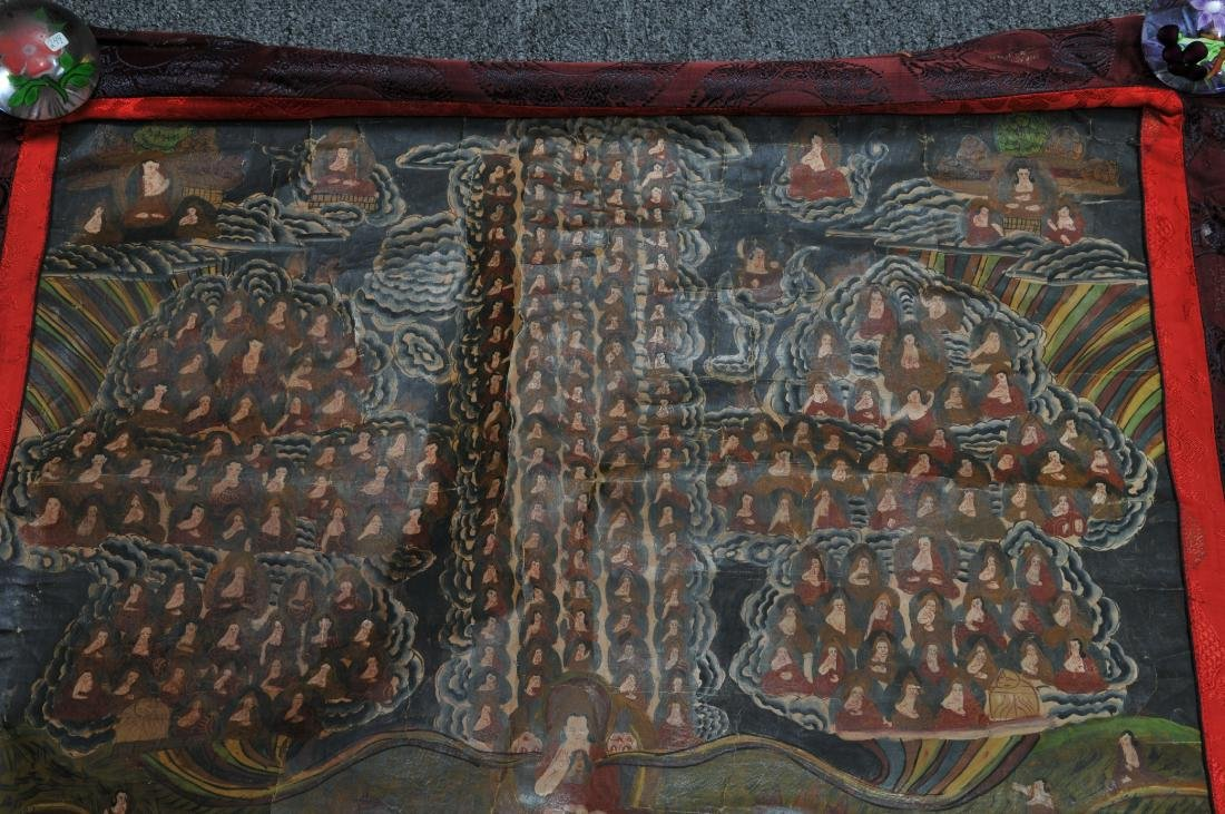 Thangkha. Tibet. 20th century. Mineral pigments on - 3