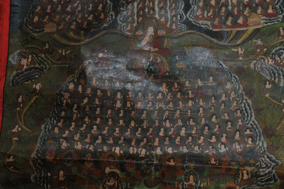 Thangkha. Tibet. 20th century. Mineral pigments on - 4