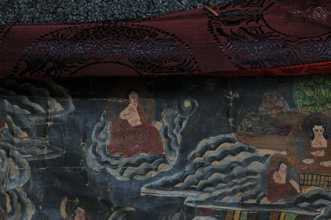 Thangkha. Tibet. 20th century. Mineral pigments on - 7