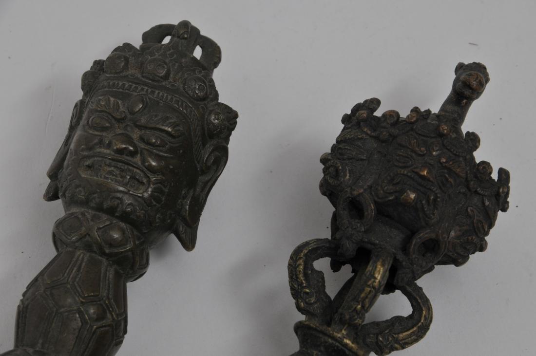 Two bronze ritual knives. Tibet. 19th century. Phurbas - 2