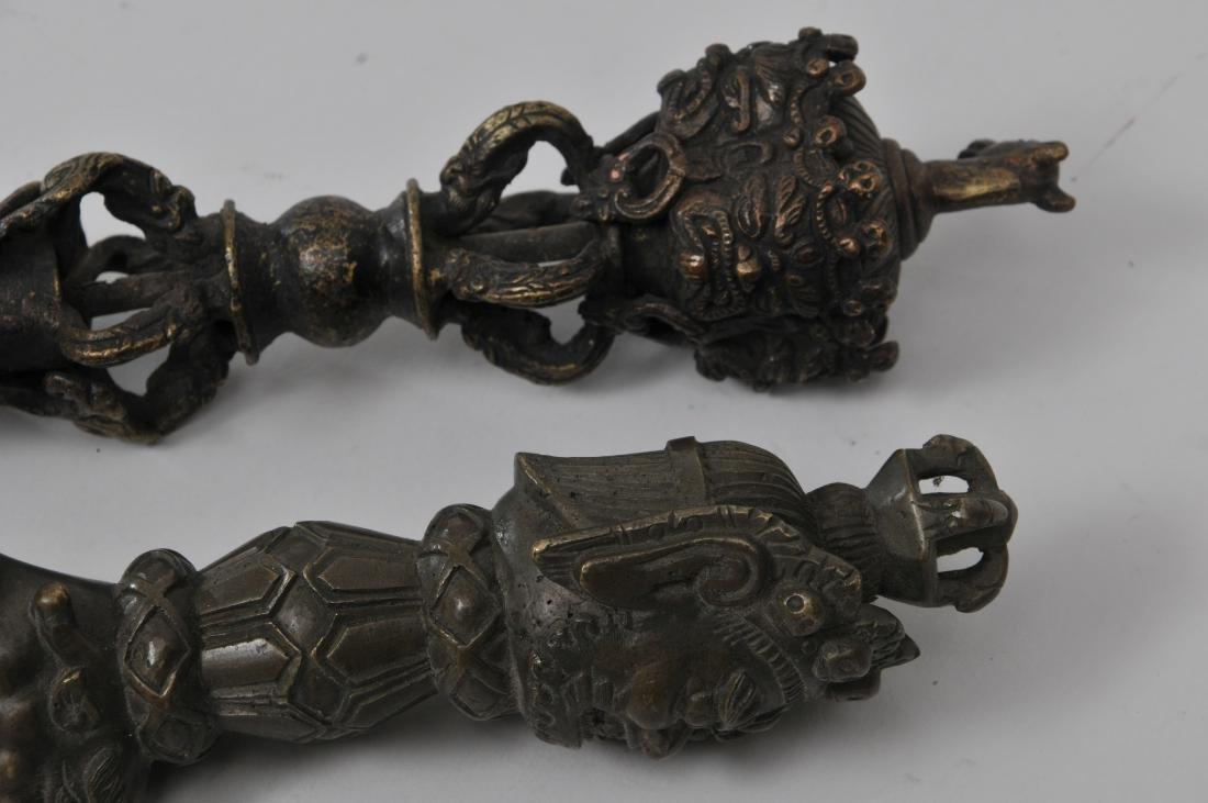 Two bronze ritual knives. Tibet. 19th century. Phurbas - 5