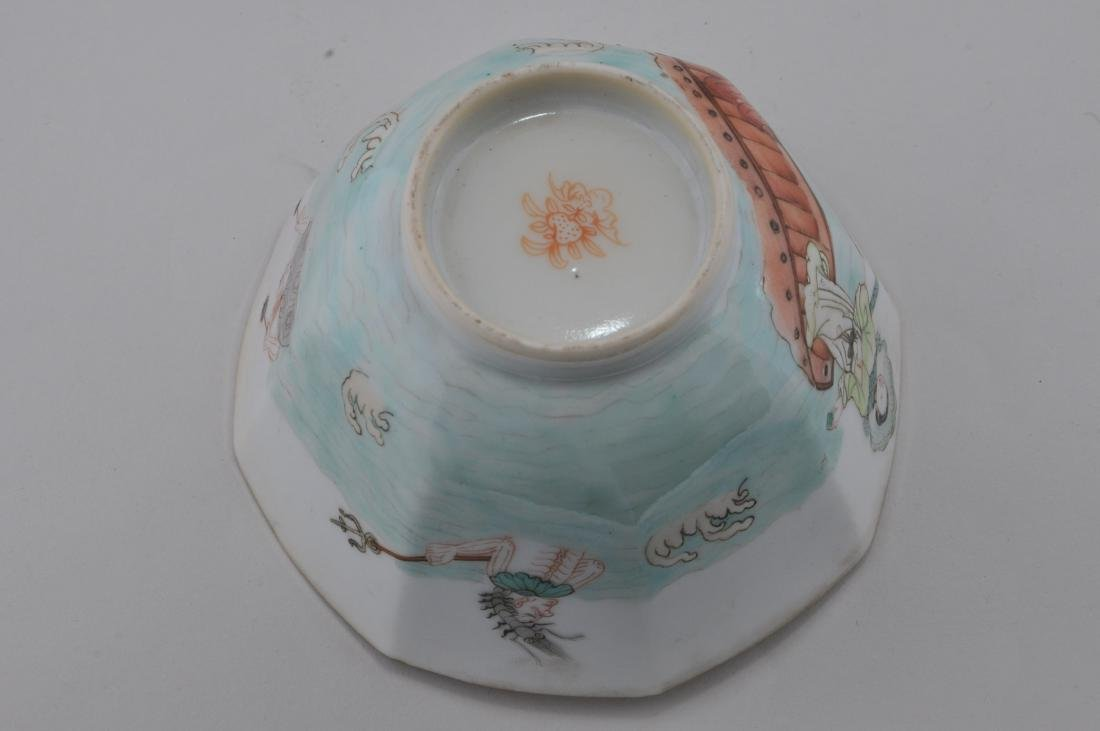 Porcelain cup. China. 19th century. Hexagonal form. - 6