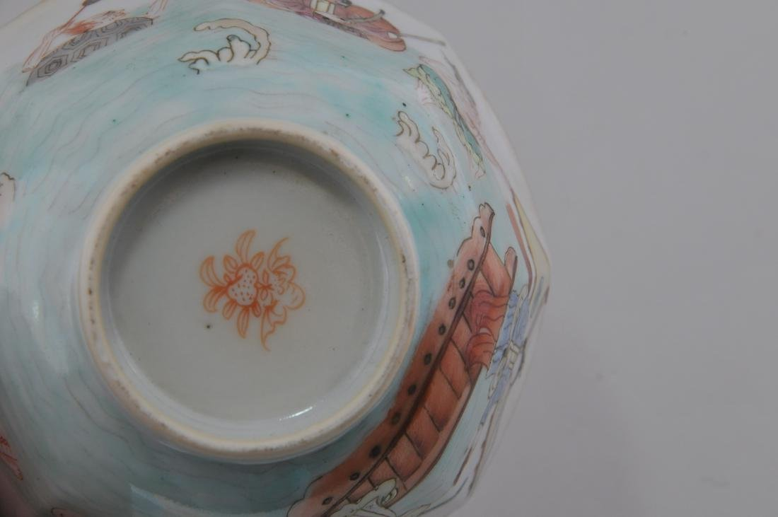 Porcelain cup. China. 19th century. Hexagonal form. - 7