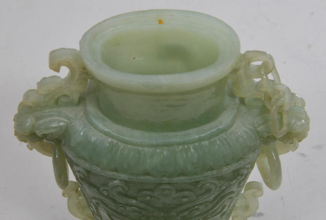 Hardstone covered jar. China. 20th century. Pale green - 4