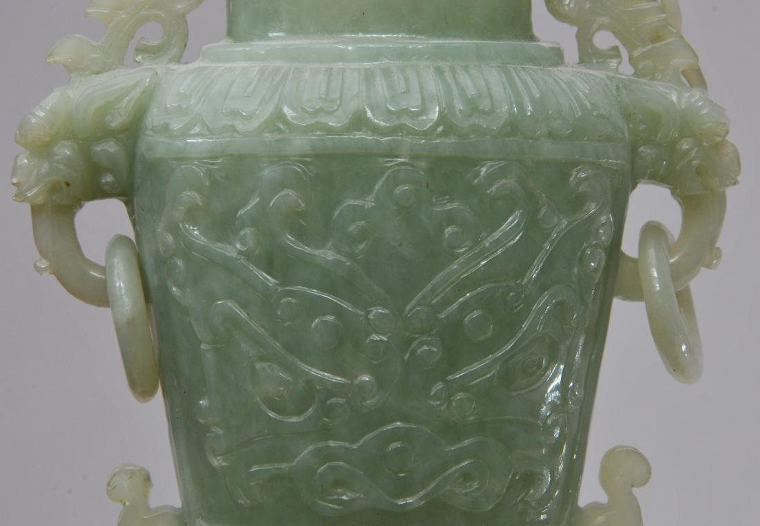 Hardstone covered jar. China. 20th century. Pale green - 8