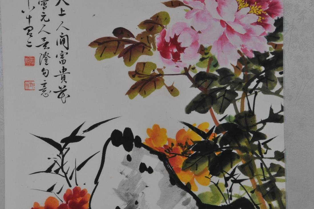 Hanging scroll. China. 20th century. Ink and colours on - 3