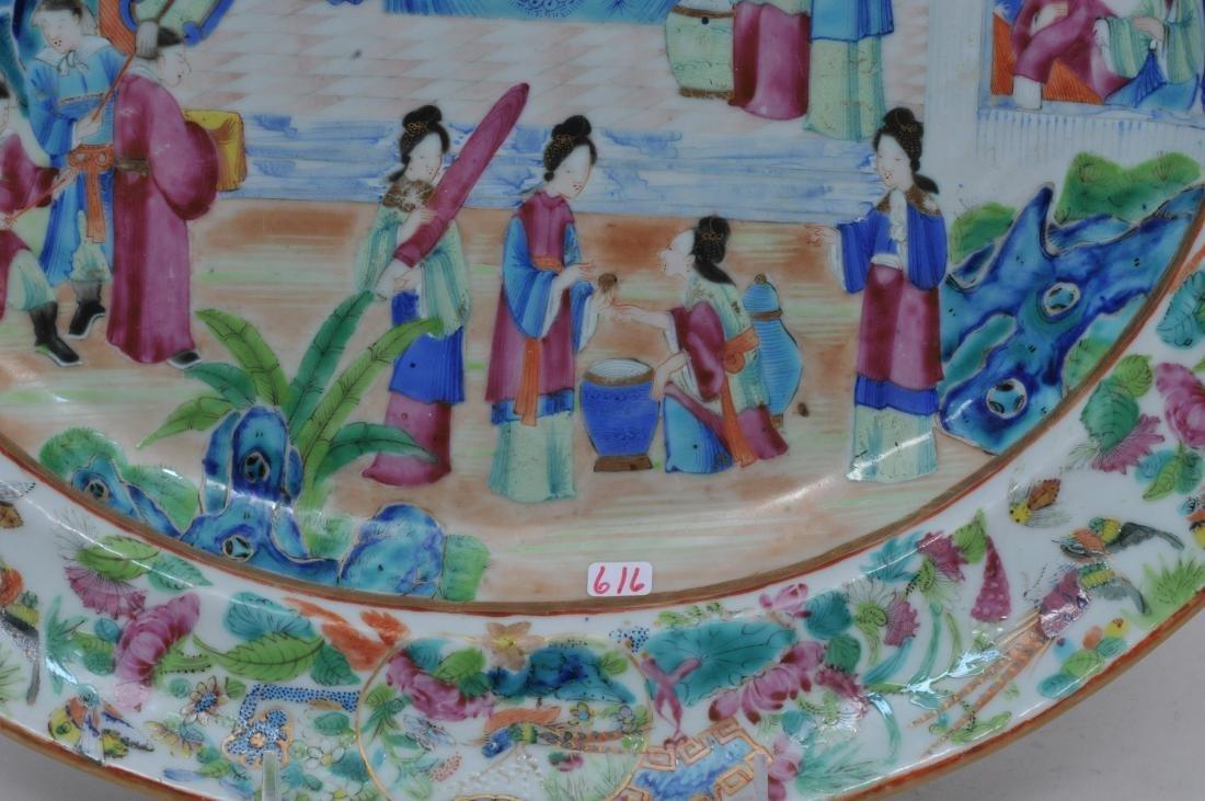 Chinese Export platter. Circa 1830. Rose Mandarin ware. - 2