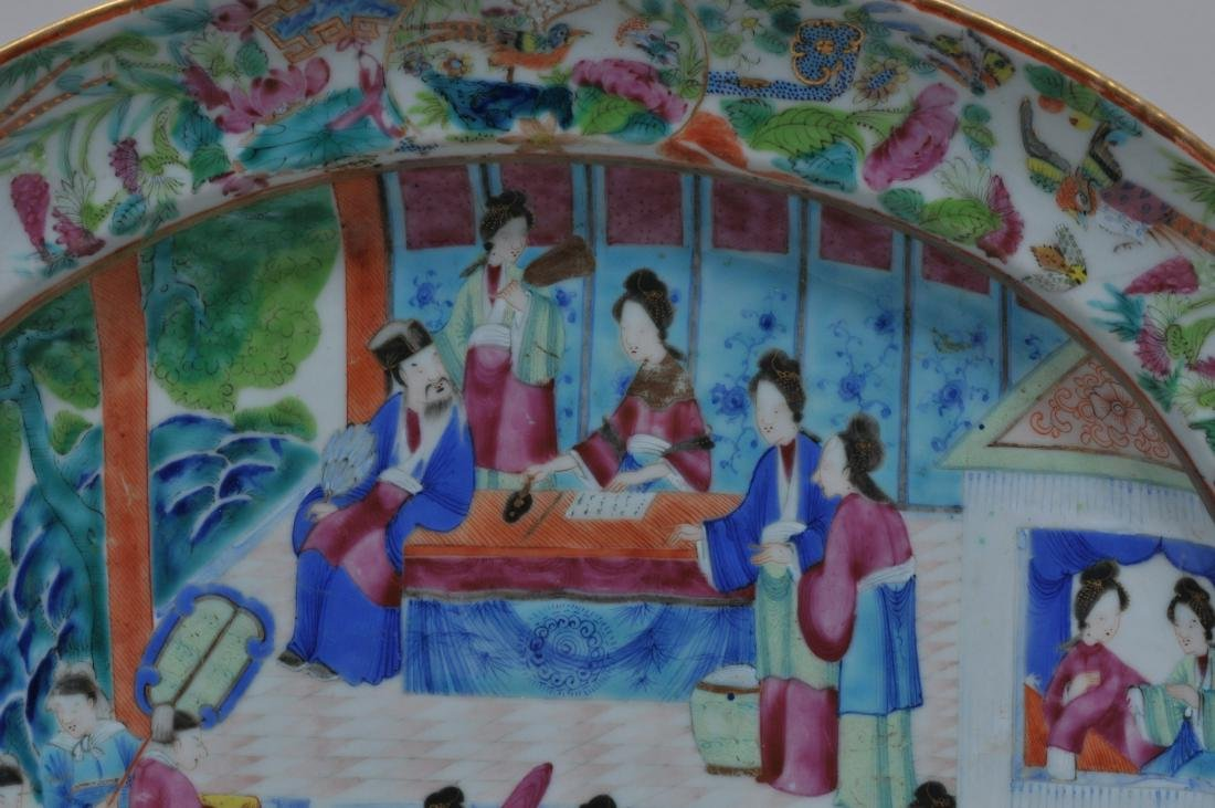 Chinese Export platter. Circa 1830. Rose Mandarin ware. - 3