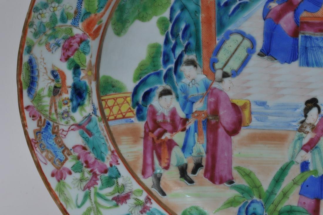 Chinese Export platter. Circa 1830. Rose Mandarin ware. - 4