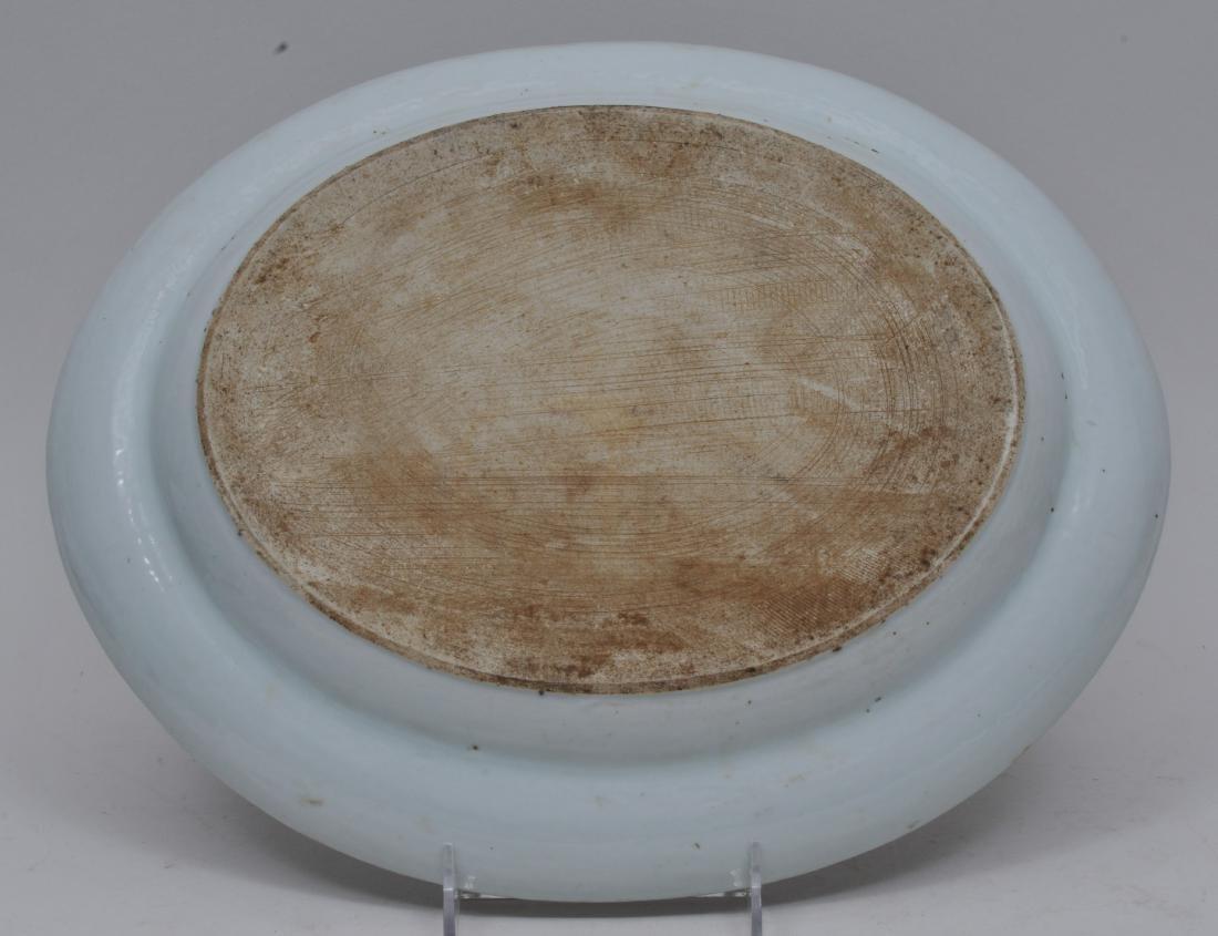 Chinese Export platter. Circa 1830. Rose Mandarin ware. - 5