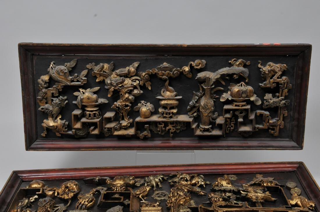 Pair of wood carvings. China. Early 20th century. - 2