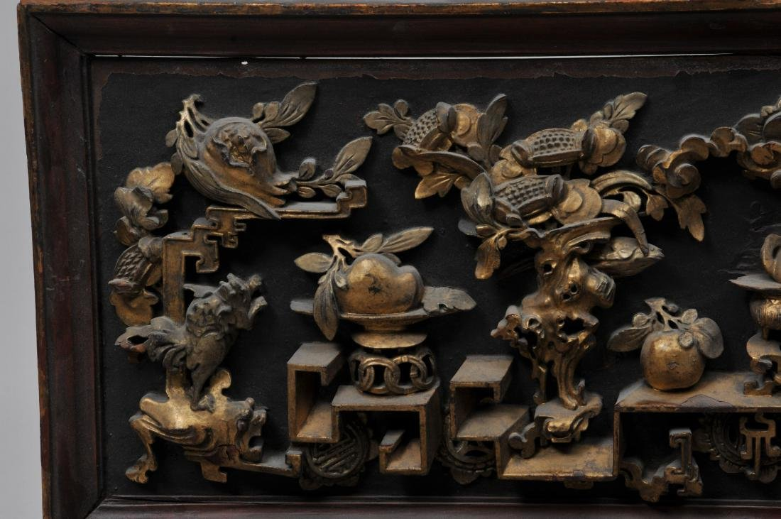 Pair of wood carvings. China. Early 20th century. - 3