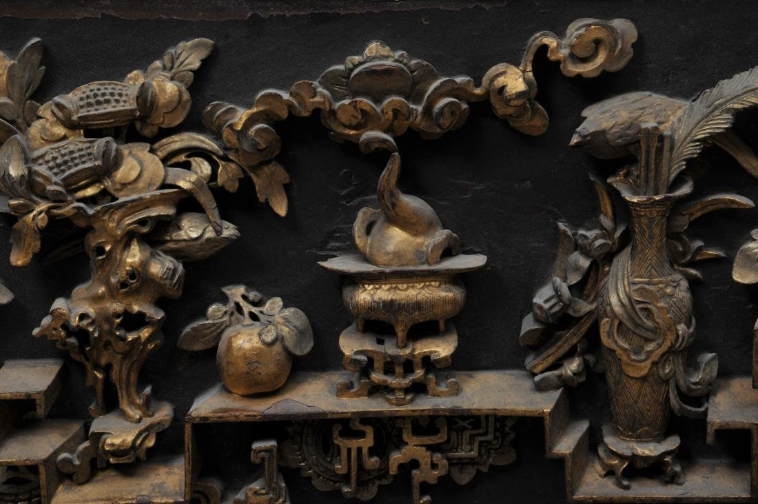 Pair of wood carvings. China. Early 20th century. - 4