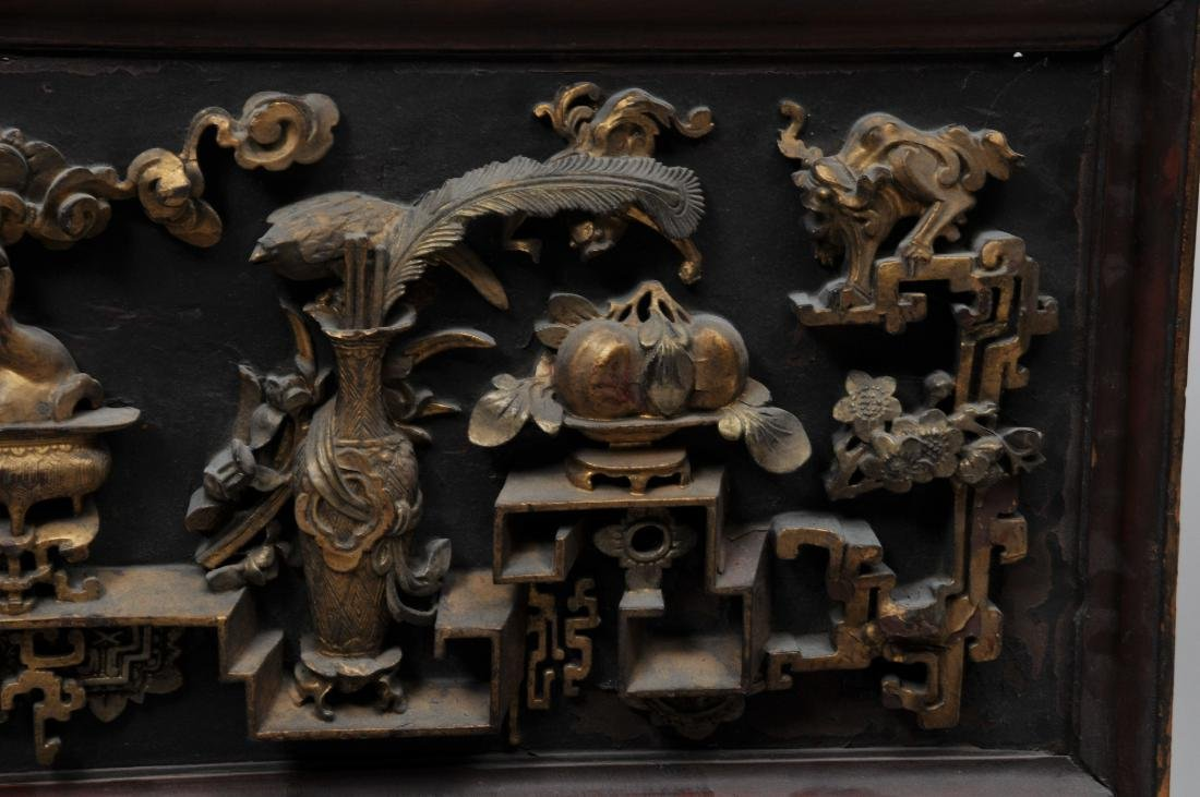 Pair of wood carvings. China. Early 20th century. - 5