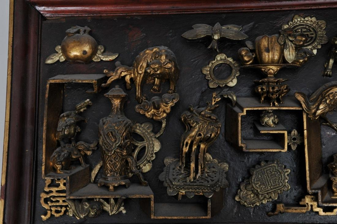 Pair of wood carvings. China. Early 20th century. - 7