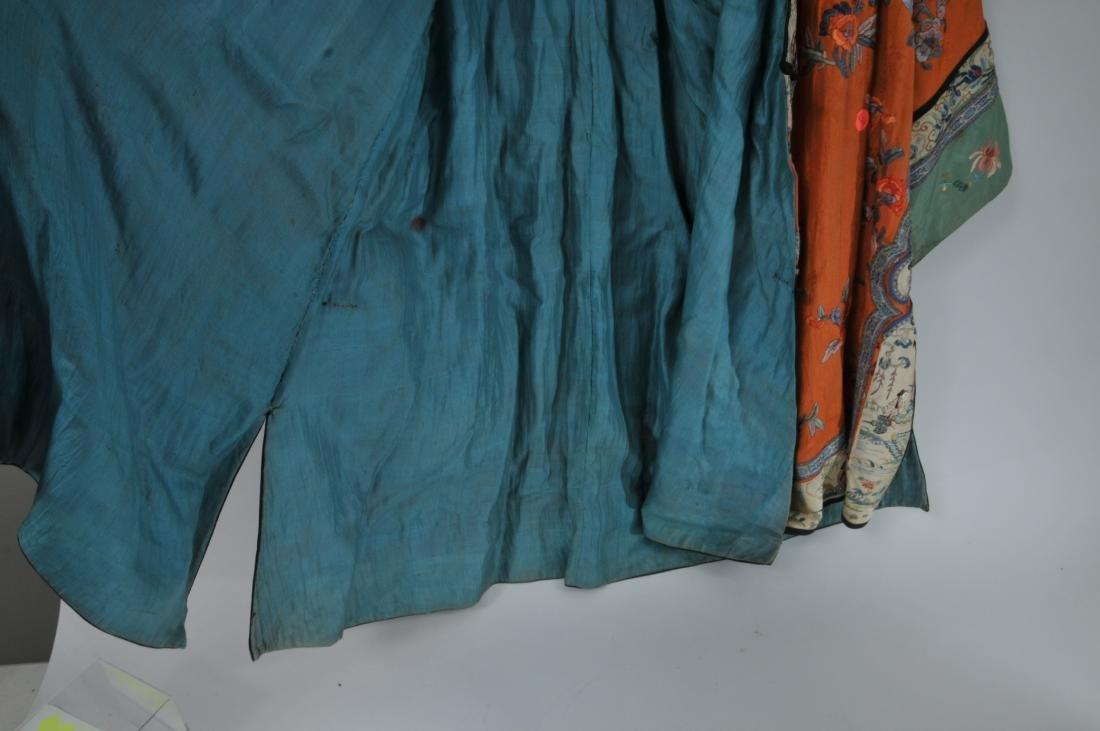 Woman's robe. China. Circa 1920. Orange ground with - 10