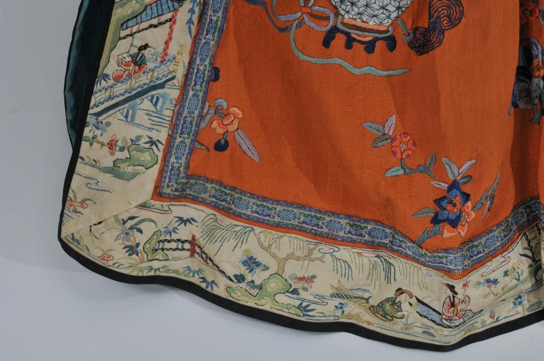 Woman's robe. China. Circa 1920. Orange ground with - 8