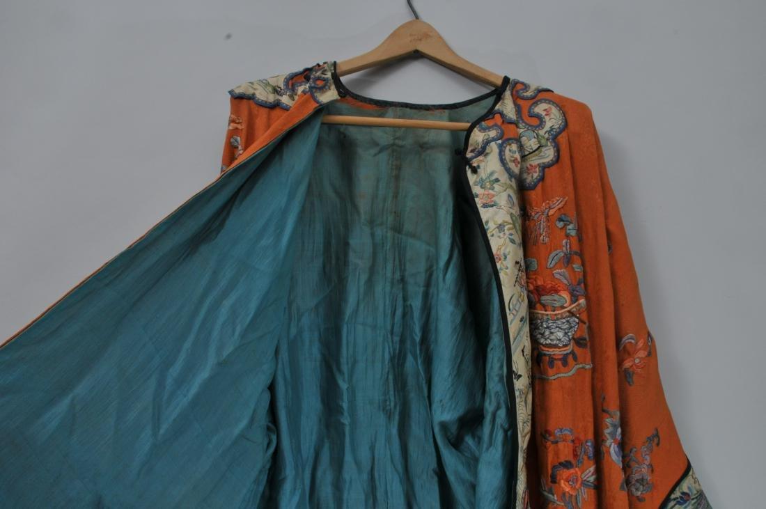 Woman's robe. China. Circa 1920. Orange ground with - 9