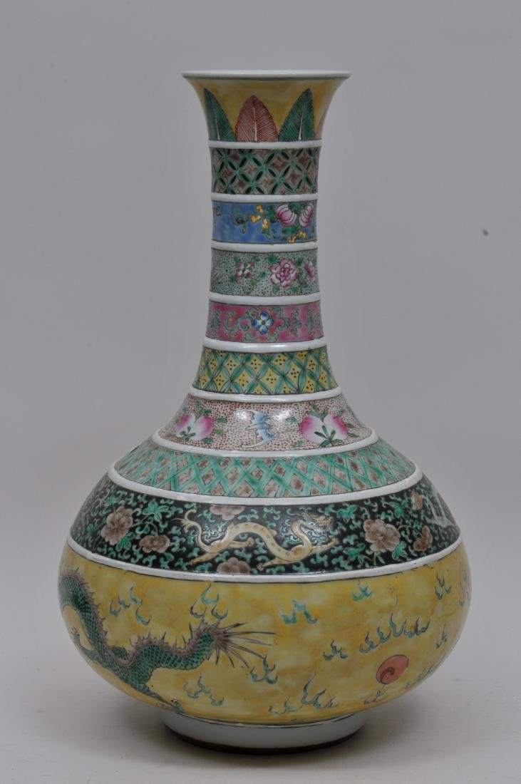 Porcelain vase. China. 19th century. Decoration of - 2