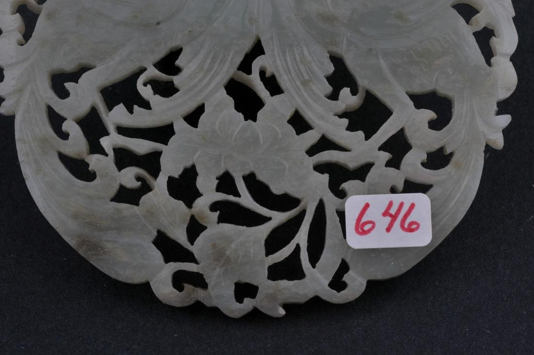 Jade pendant. China. 19th century. Stone of a grey - 3