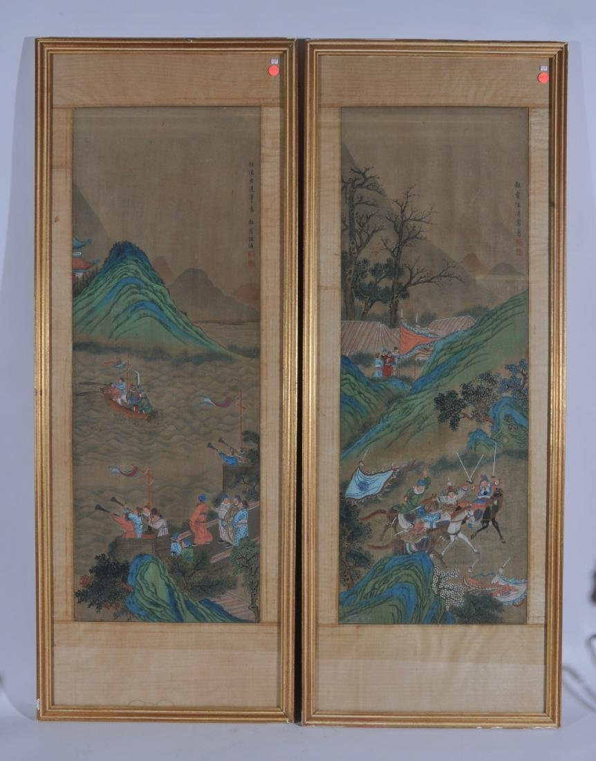 Pair of hanging scrolls. China. Early 20th century. Ink