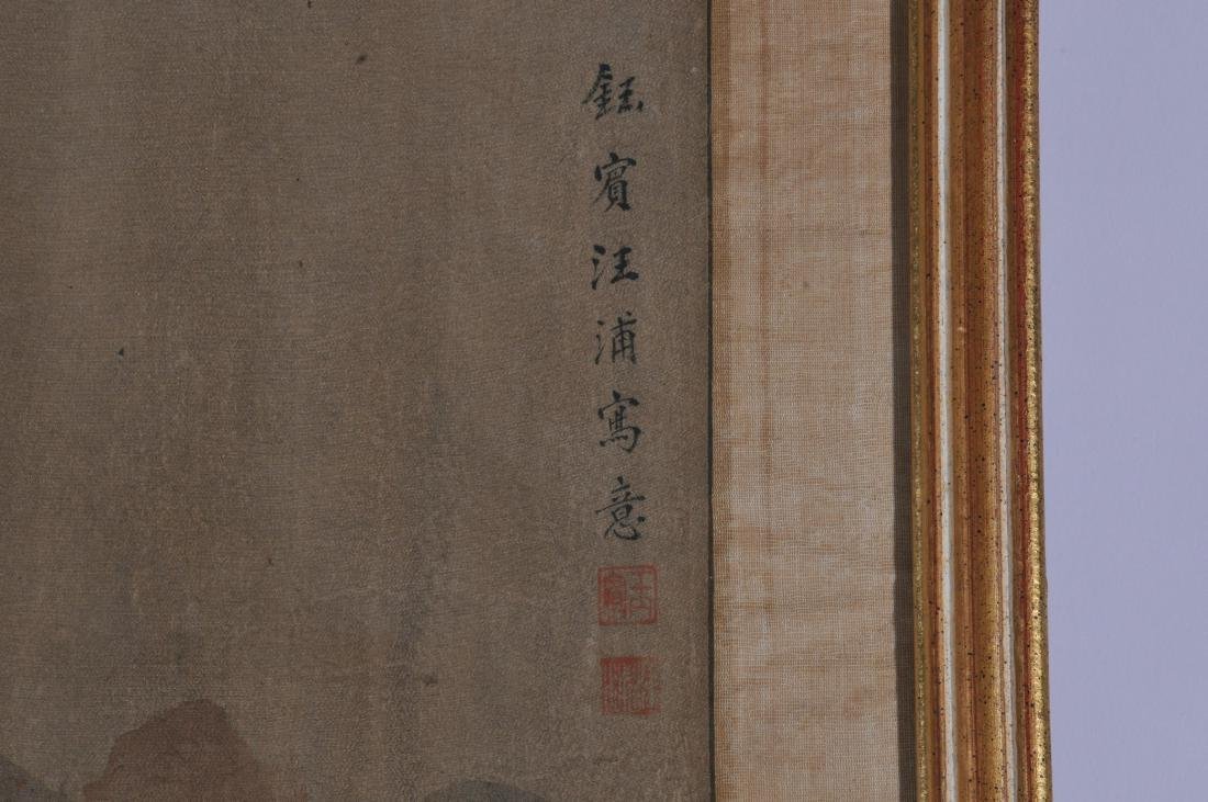 Pair of hanging scrolls. China. Early 20th century. Ink - 9