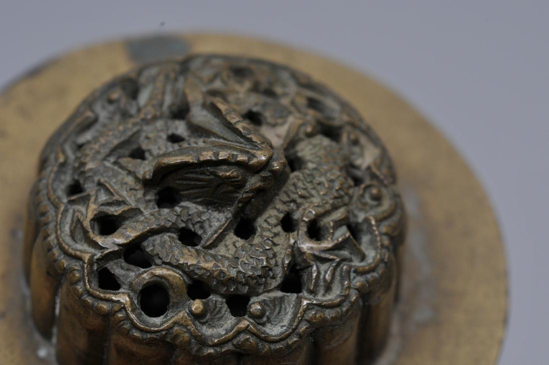 Paktong censer. China. 19th century. Lobated body - 4
