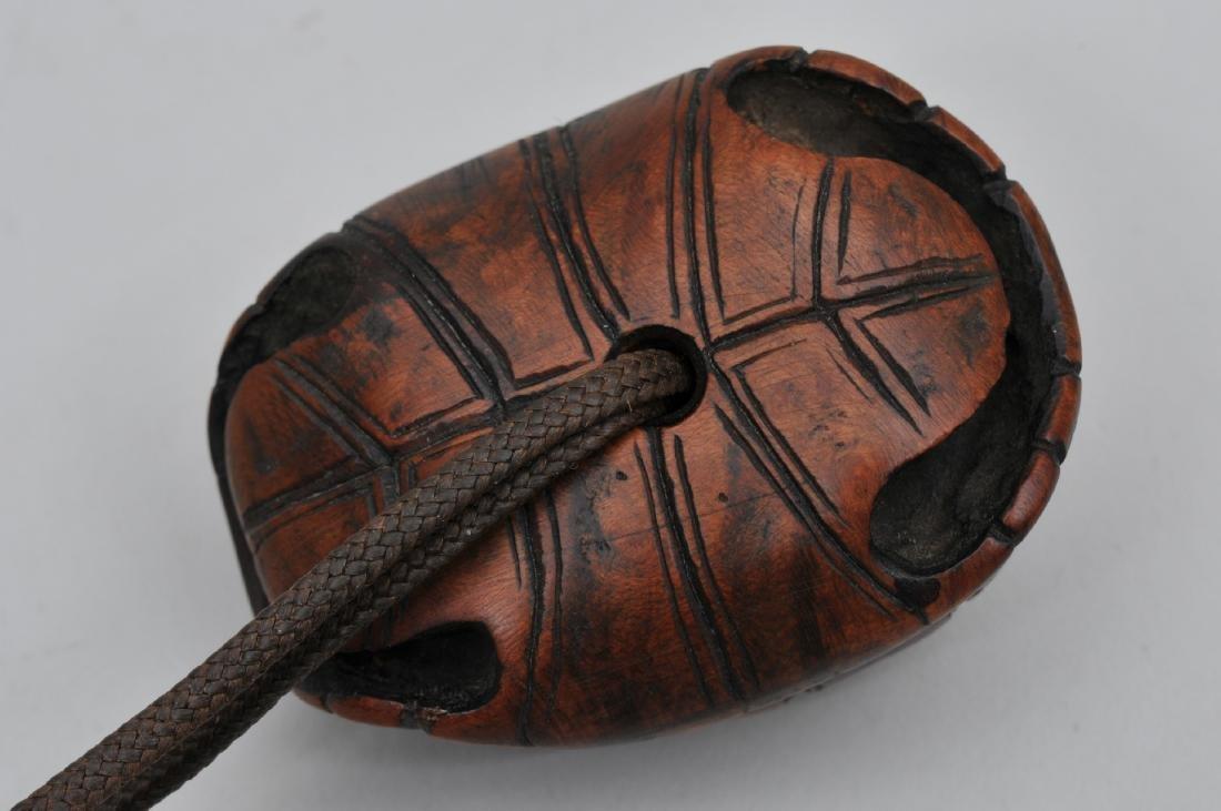 Hardwood Netsuke. Japan. 19th century. Carved as a - 2