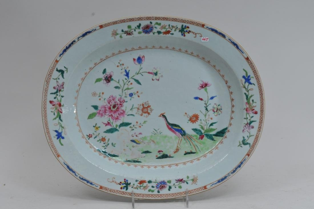 Chinese Export platter. Late 18th century. Famille Rose