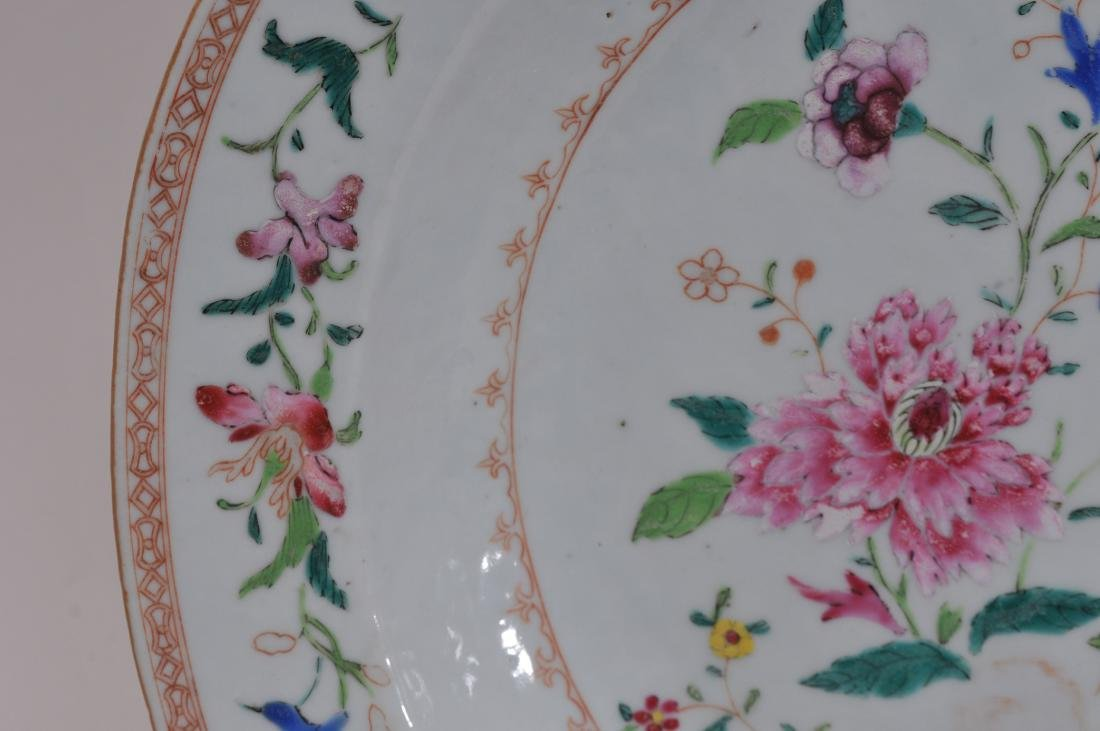 Chinese Export platter. Late 18th century. Famille Rose - 4