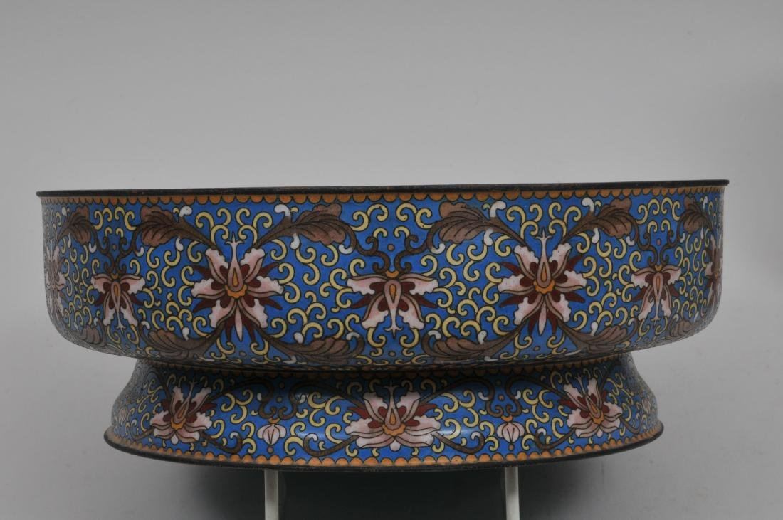 Cloisonné covered bowl. China. 20th century. Foo dog - 5