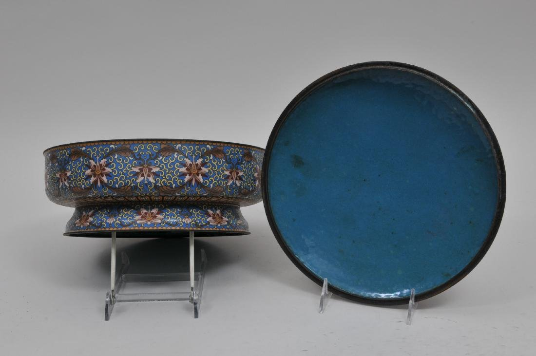 Cloisonné covered bowl. China. 20th century. Foo dog - 6