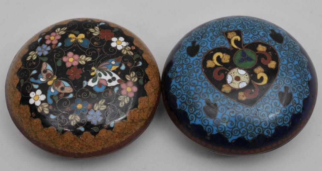 Two Cloisonné boxes. Japan. Meiji period. (1868-1912).
