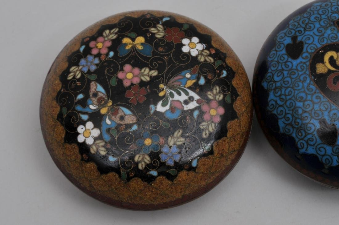 Two Cloisonné boxes. Japan. Meiji period. (1868-1912). - 2