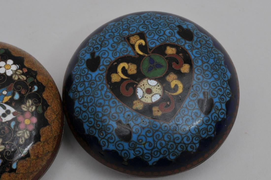 Two Cloisonné boxes. Japan. Meiji period. (1868-1912). - 3