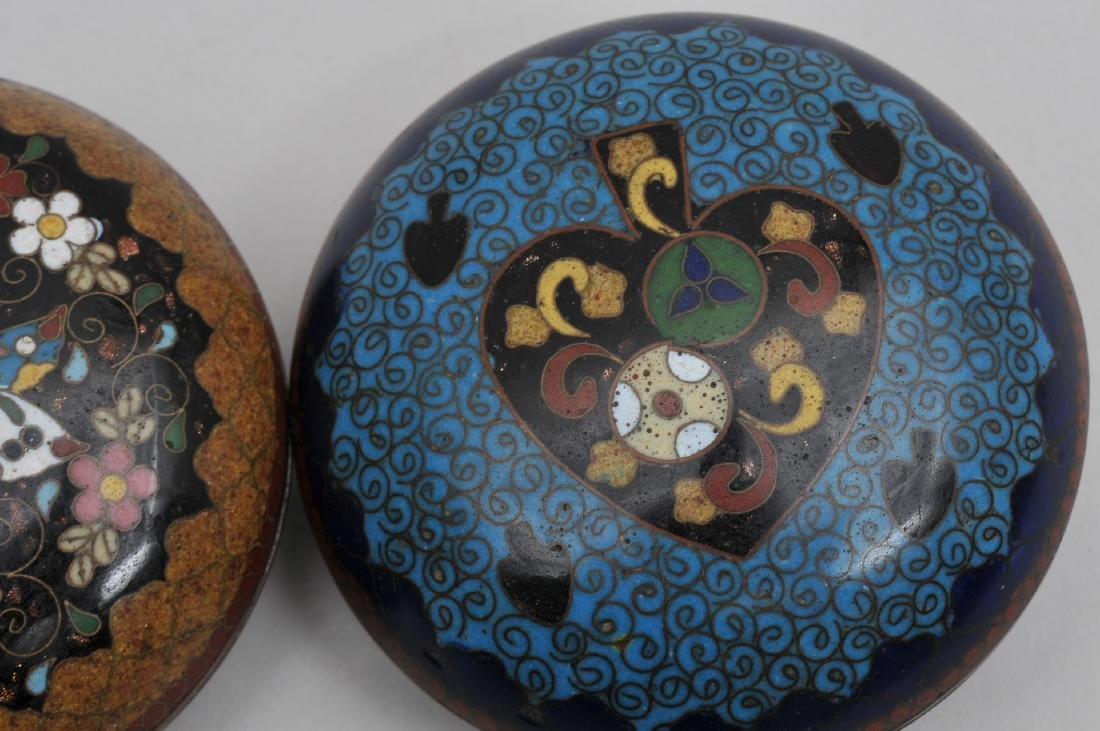 Two Cloisonné boxes. Japan. Meiji period. (1868-1912). - 4