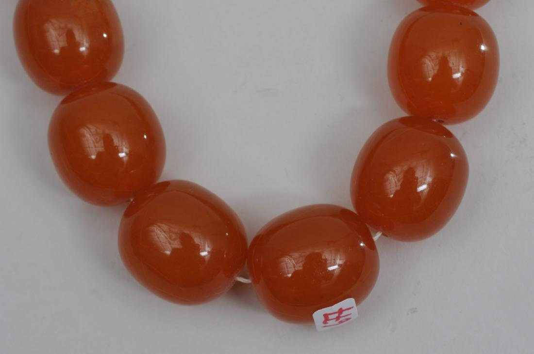 Set of Amber beads. Butterscotch colour. Graduated, - 2