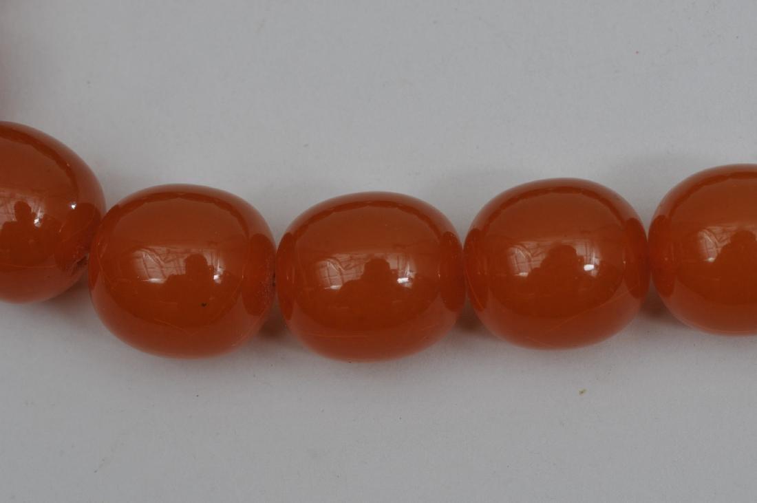 Set of Amber beads. Butterscotch colour. Graduated, - 3