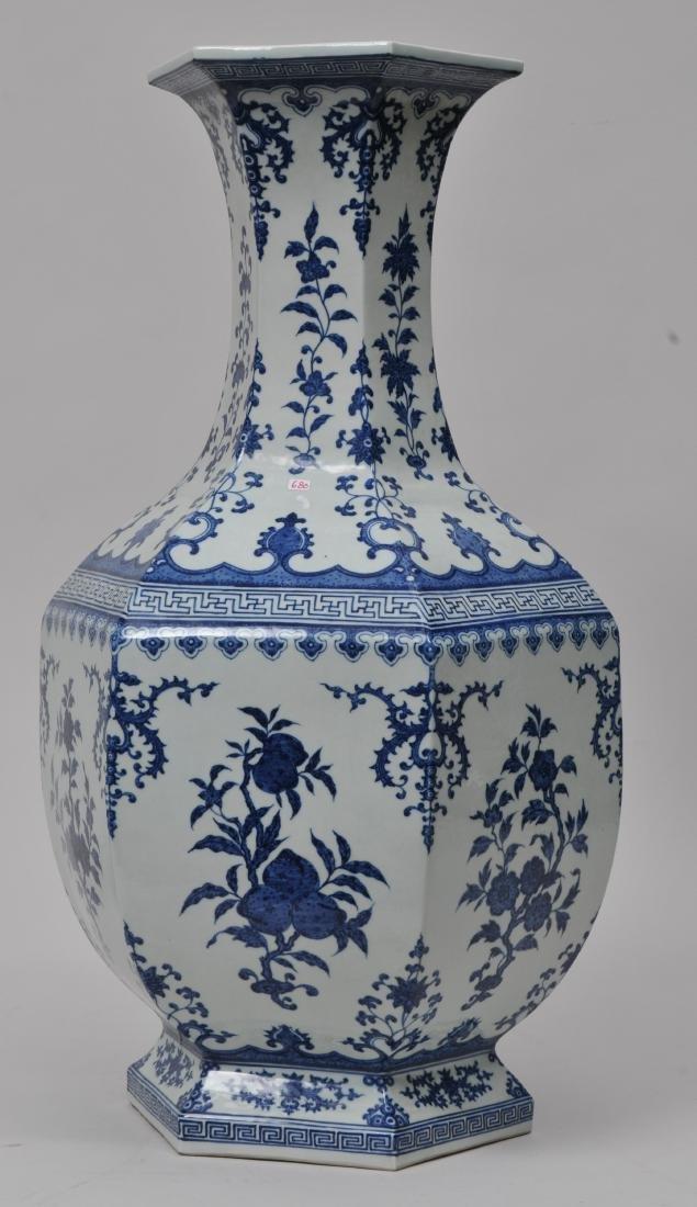 Large porcelain vase. China. 20th century. 18th century