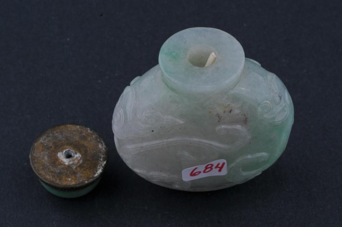 Jadeite Snuff bottle. Late 19th century. China. - 4