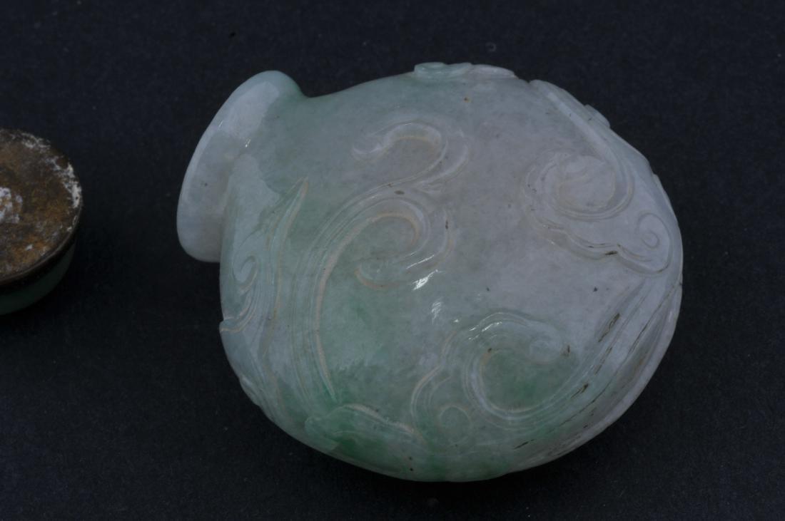 Jadeite Snuff bottle. Late 19th century. China. - 5