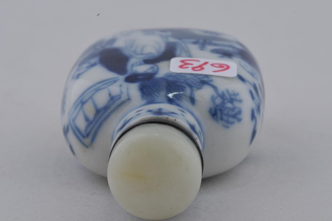Porcelain Snuff bottle. China. 19th century. Underglaze - 5
