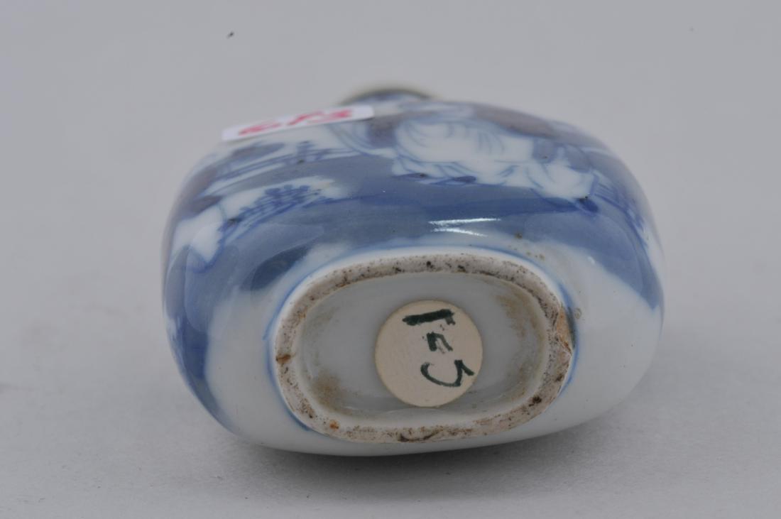 Porcelain Snuff bottle. China. 19th century. Underglaze - 6