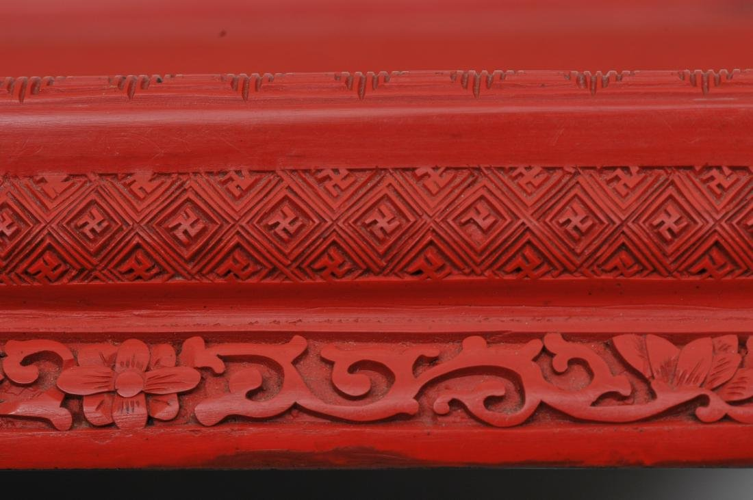 Rectangular stand. China. Circa 1930. Surface of carved - 6