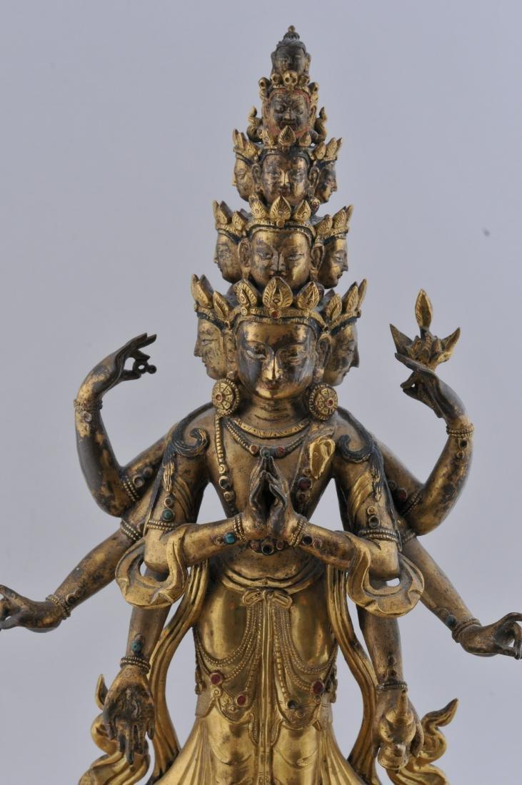 Gilt bronze Buddha. Sino-Tibetan. 18th century. - 2