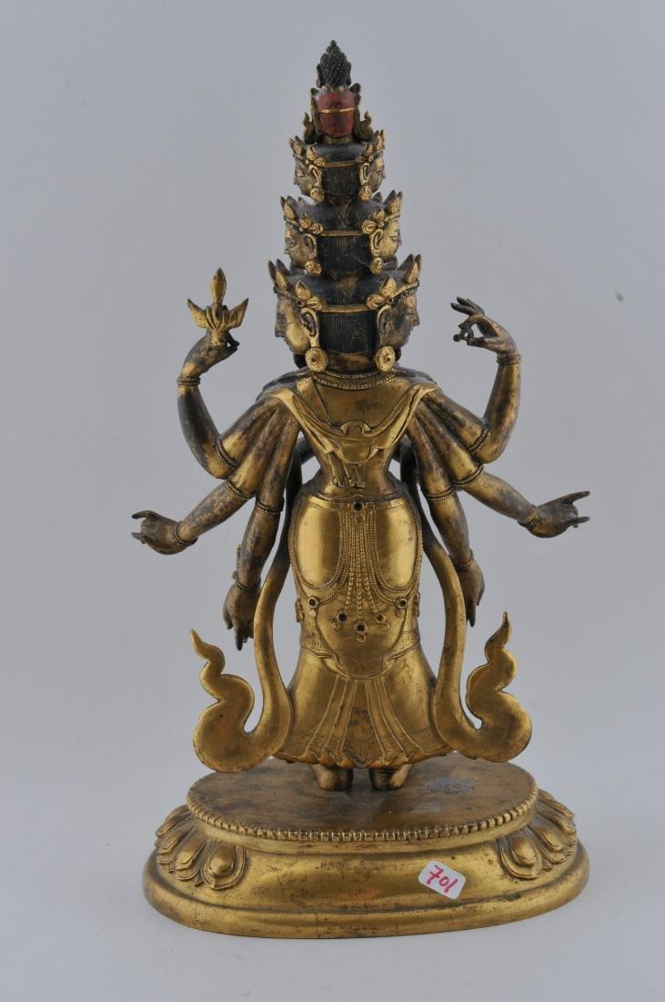 Gilt bronze Buddha. Sino-Tibetan. 18th century. - 5