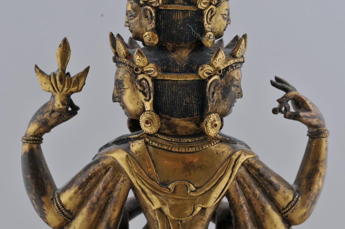 Gilt bronze Buddha. Sino-Tibetan. 18th century. - 6