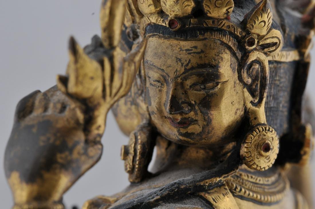 Gilt bronze Buddha. Sino-Tibetan. 18th century. - 7