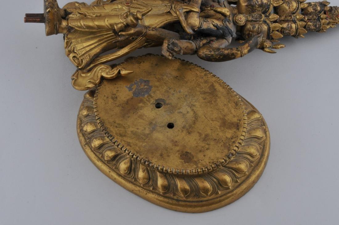 Gilt bronze Buddha. Sino-Tibetan. 18th century. - 8